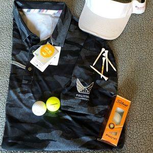 BNWT Puma Volition Camo Polo Golf Shirt, blk XL